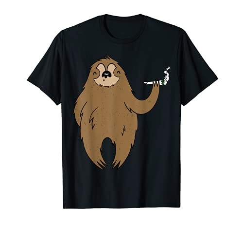 Fumar Bong Fumar Relajación Cannabis Marihuana Animal Camiseta