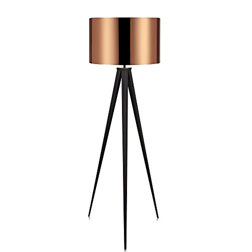 Lámpara de pieLEDcon base trípodeestándarVersanoraen cobre VN-L00005
