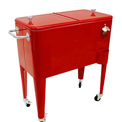 H91 Nevera portatil Vintage Roja