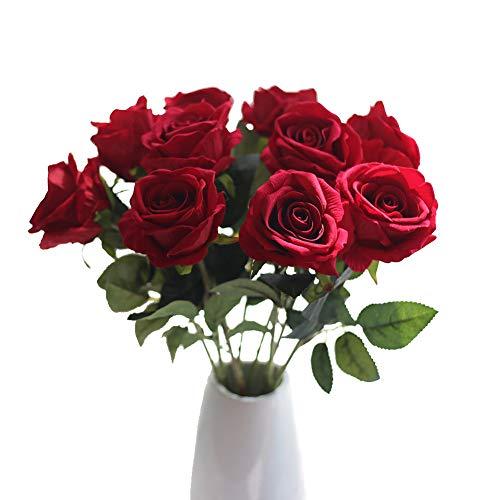 rosas plásticas vintage para decoración