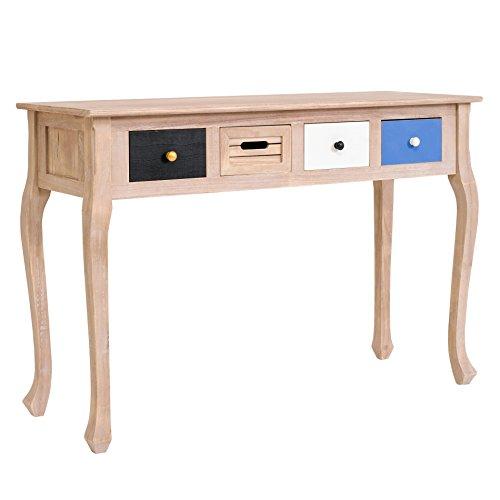 rebecca mobili mesa vintage de cuatro (4) cajones