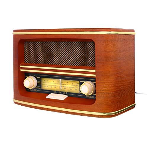 Camry CR-1103 - Radio de Madera Retro con Nostalgia Mira FM, Marron