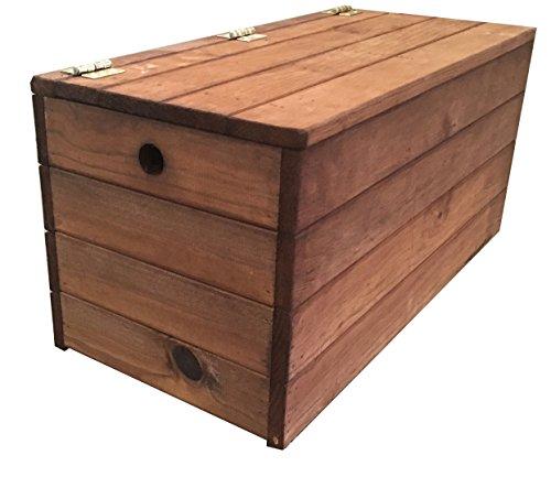 baul banco madera marron