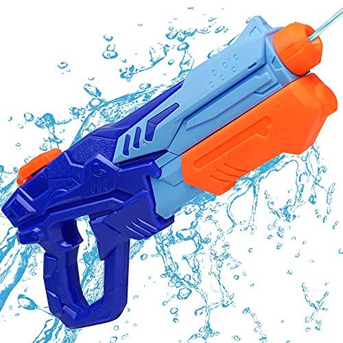 MOZOOSON Pistola de Agua de Juguete para Niñas de Niños, Potente Chorro de Agua con un Alcance Largo 33ft, Water Pistol Gun para Batalla de Agua, Fiestas de Verano al Aire Libre, Capacidad...