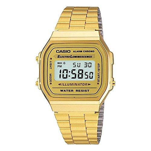 Casio Collection A168WG-9EF, Reloj Unisex, Oro. casio unisex oro