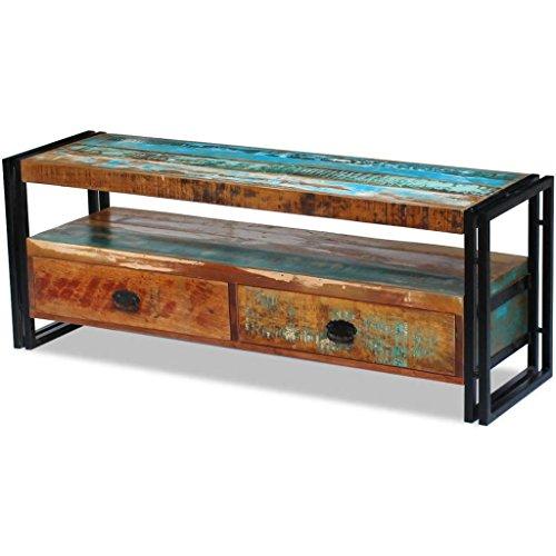 mesa tv de madera reciclada