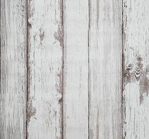 Papel pintado retro vinilo PVC autoadhesivo, 53x565cm, papel tapiz de efecto ladrillo gris, Espesar Vinilo para muebles papel(0.45mm), impermeable A prueba de humedad facil de aplicar