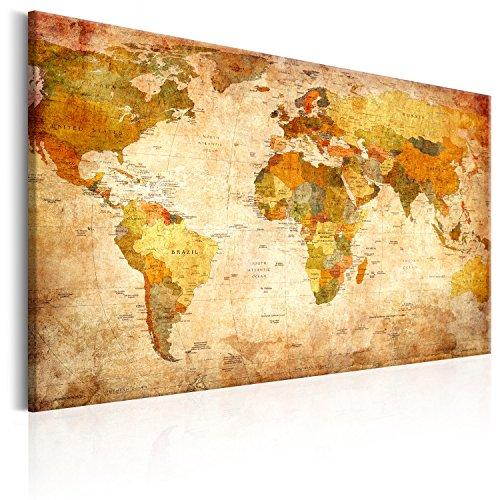 mapamundi vintage lienzo sintético