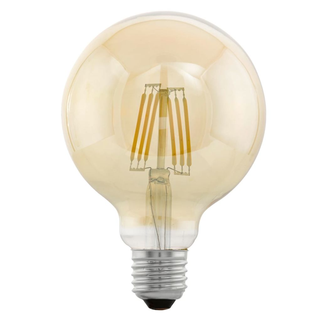 Bombilla LED vintage E27 G95 11522, ámbar