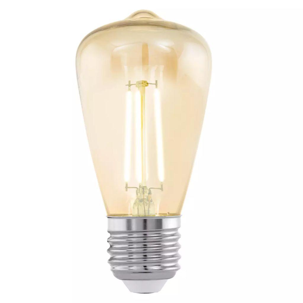 Bombilla LED vintage E27 ST48 11553, ámbar