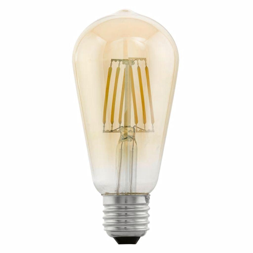 Bombilla LED vintage E27 ST64 11521, Ámbar