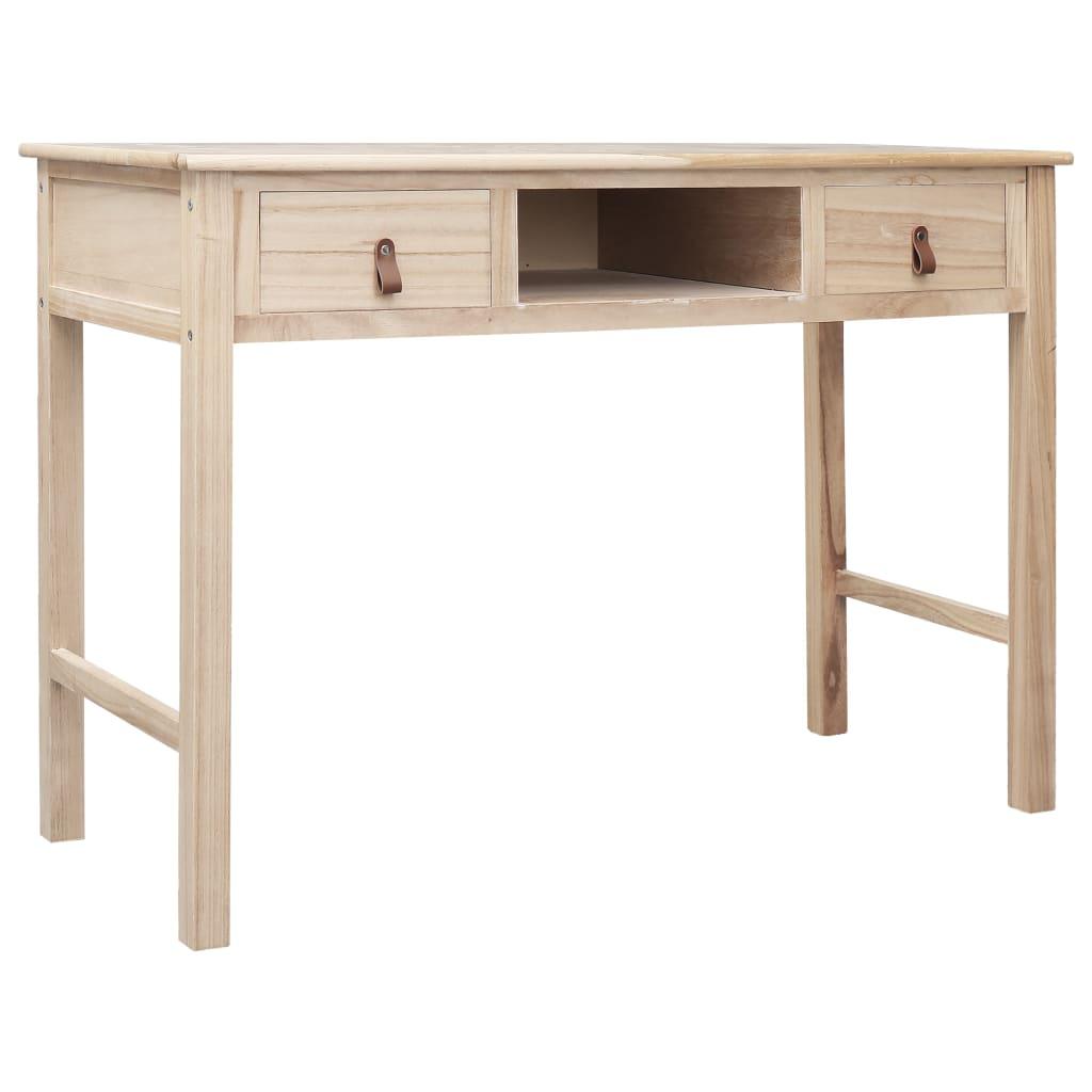 vidaXL Escritorio de madera color natural 110x45x76 cm