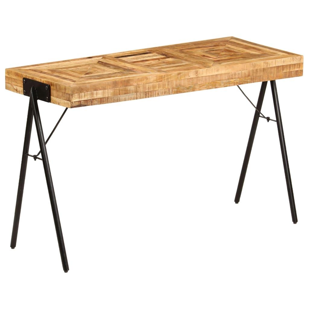 vidaXL Mesa de escritorio de madera maciza de mango 118x50x75 cm