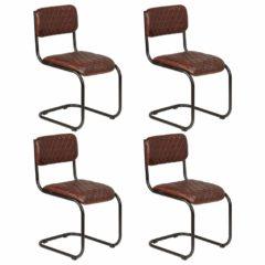 vidaxl sillas de comedor 4 unidades cuero autntico marrn 1